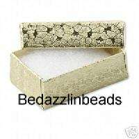 Small Gold Jewelry Gift Box Cotton Filled~Little