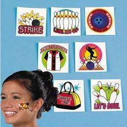 36 Bowling Tattoo Birthday Party Favor STRIKE KING PIN