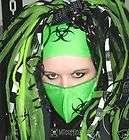 Cyber Goth Toxic Lime Biohazard Industrial Headband