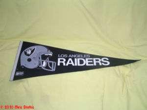 Los Angeles Raiders NFL Helmet Pennant Vintage NOS