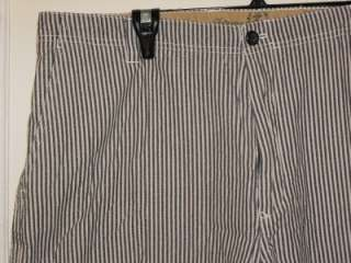 Mens IZOD SALTWATER CHINOS Striped Shorts Size 40W