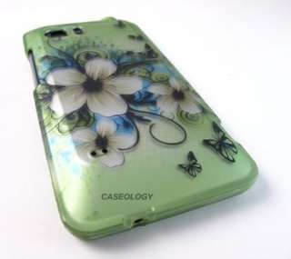 GREEN HAWAII FLOWER HARD SHELL SNAP ON CASE COVER ATT HTC VIVID PHONE