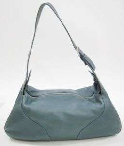 BALLY Blue Leather Medium Size Shoulder Handbag