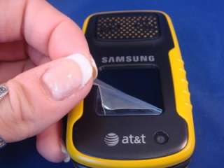 MINT Yellow Samsung Rugby A837 AT&T Camera PTT Music Rugged Cell Phone