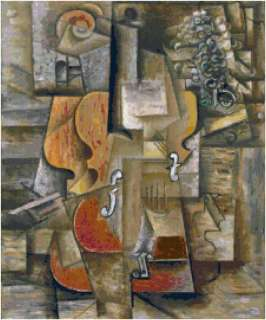 Picasso Violin and Grapes Counted Cross Stitch Pattern