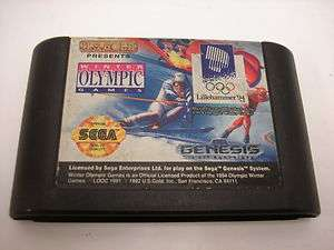 XVII OLYMPIC WINTER GAME LILLEHAMMER 1994 GAME SEGA GENESIS VIDEO GAME