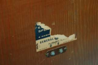 Vintage 1959 GE Model G 501 Extended Bass Retro Speakers Working Art