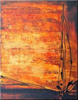 Original Abstract Oil Like Metallic Acrylic Painting by Anna K