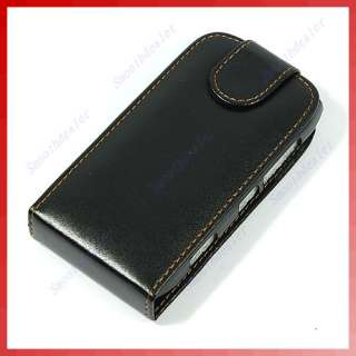 leather case cover skin flip pouch for nokia n8 black pictures