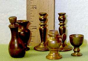 Six VINTAGE Decorative Collectable BRASS MINIATURES
