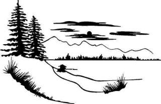 Pine Trees Vinyl Decal Car Truck Boat Window Sticker