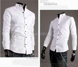Stylish Casual Dress Slim Fit Shirts White,Black and 4 size SH43