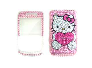 new hello kitty rhinestone bling case cover blackberry curve 9300