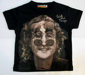 Kids toddler boys children T shirt JOHN LENNON The beatles pop rock 3T
