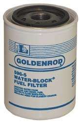 (596 5) Diesel/Gas WATER BLOCK Filter replacement canister Filter