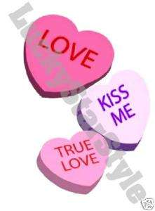 Nail Decals Set of 20   Candy Hearts Love & Kiss Me