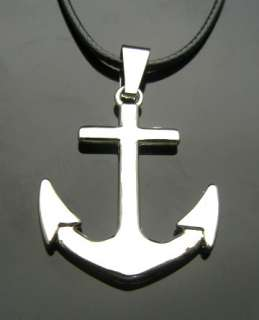 TF739 ANCHOR Stainless Steel Pendant Necklace Punk EMO Gothic