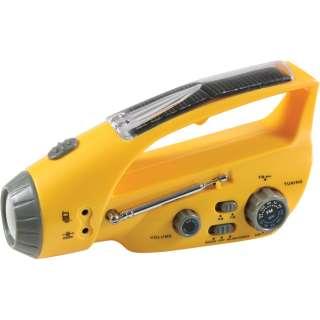 Solar Hand Crank Flashlight Emergency Portable Radio