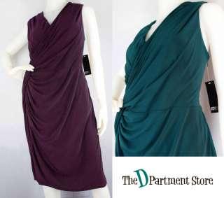 NWT $168 ADRIANNA PAPELL Woman PLUS SZ Grecian Draped Jersey Wrap
