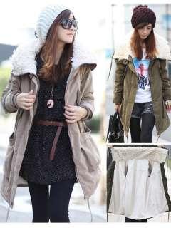 New Womens Girls Fashion Winter Zip Up Tops Hoodie Warm Coat Jacket