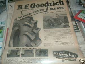1950 BF Goodrich Power Curve Farm Tractor Tire ad