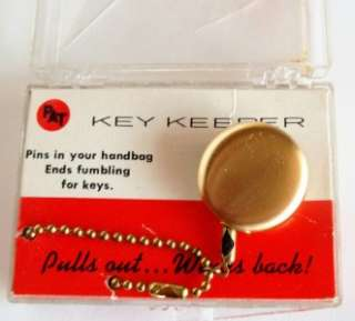 Vintage PAT New *Key Keeper* NOS in Original Box+Card *Made in the USA
