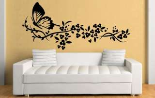 Ƹ̵̡Ӝ̵̨̄Ʒ Delicate Flowers & Butterfly Art Wall Stickers