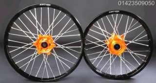 Orange Hubs & Black Rims for KTM 18 19 21