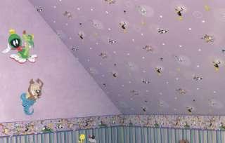 Looney Tunes Tapeten Bordüre selbstklebend lila