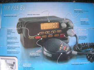 New Cobra MR F55 EU DSC VHF radio & Marine GPS Receiver with wiring