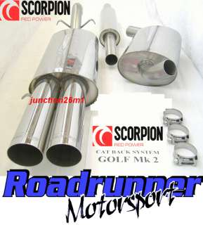 BRAND NEW SCORPION EXHAUST TO FIT GOLF MK2 1.8 GTI 8V 1983   1992