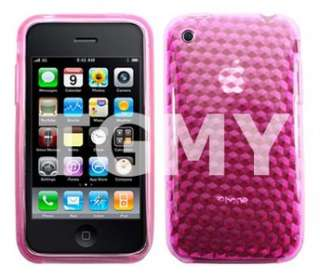 PINK DIAMOND GEL CASE COVER FOR APPLE IPHONE 3G 3GS