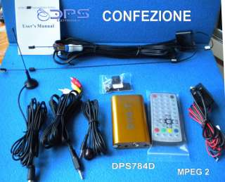 DVB T DECODER TV DIGITALE TERRESTRE AUTO PER AUTORADIO MENU ITALIANO
