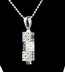 Simmons Mens Necklace Stainless Steel Shaped Like Dice
