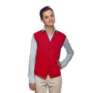 DayStar 740 One Pocket Uniform Vest Apron   Red   Embroidery Available