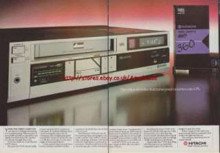 Hitachi VT17E Video Recorder 1983 Magazine Advert #1700