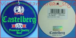 FELPA UOMO NERO TG S CASTELBERG BEER ORIGINAL STAMPA ORIGINALE RICAMO