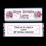 Personalised WINE BOTTLE LABELS Happy Birthday PINK