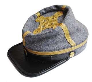 AMERICAN CIVIL WAR CONFEDERATE GENERALS KEPI CAP HAT LARGE SIZE, UK