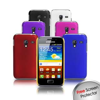 HARD CASE COVER FOR SAMSUNG GALAXY ACE PLUS S7500 + SCREEN PROTECTOR