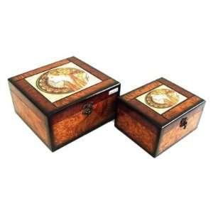 Keystone Decorative Greek Queen Jewelry Box   Set of 2