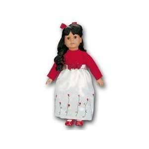 com Toy RedWhite Rose Bud dress for American Girl dolls Toys & Games