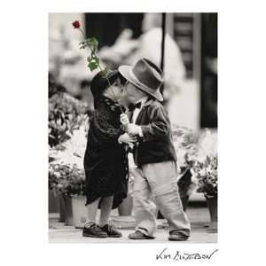 The First Kiss by Kim Anderson. Size 7.50 X 10.00 Art