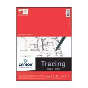 Pro Art Canson Tracing Paper Pad 80 Pound 9X12 50 sheets