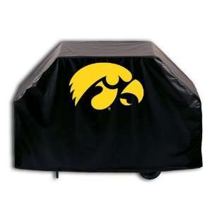 Iowa Hawkeyes Logo Grill Cover on Black Vinyl: Patio, Lawn