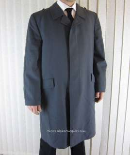 GERMAN ARMY SURPLUS WOOL LINED TRENCH COAT, LUFTWAFFE