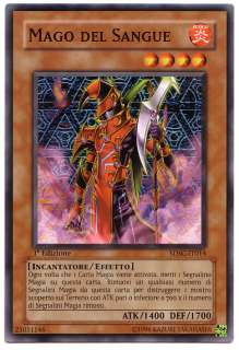 YUGIOH • Mago del Sangue Blood Mage • 1ª ED ITALIANO