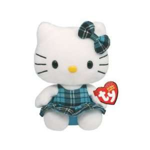 Beanie Babies Hello Kitty in Tartan Dress in Blue Toys & Games