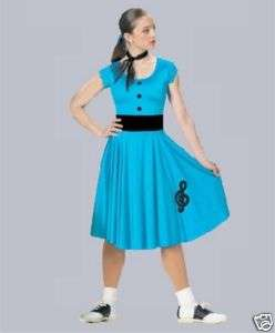 Funky 50s Rock N Roll Blue Dress Dance Costume CM