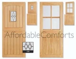 external solid oak cottage stable door wooden front back door new